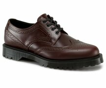 Dr. Martens 3 Loch Fabrizio Dark Brown Polished Whitney