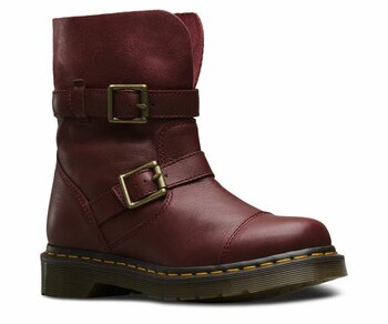 Dr. Martens Slip On Kristy Slouch Boot Cherry Red Virginia / Suede Eur 43 (UK9)