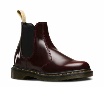 Dr. Martens Slip On 2976 Cherry Red Vegan Felix Rub-Off