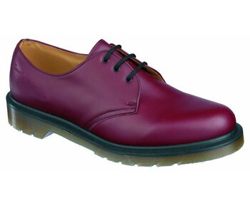 Dr. Martens 3 Loch 1461 PW Cherry Red Vintage Quilon Made in England