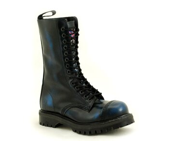 NPS Shoes LTD Premium Ranger Made in England Navy Rub Off 14 Loch Stahlkappe Boot EUR 37 (UK4)