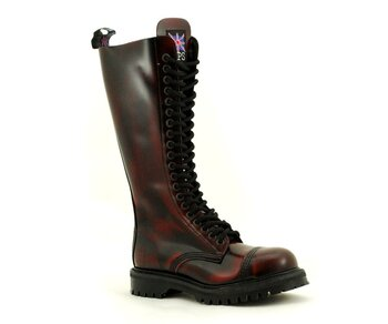 NPS Shoes LTD Premium Ranger Made in England Burgundy Rub Off  20 Loch Stahlkappe Boot