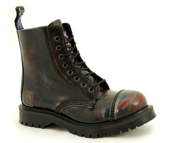 NPS Shoes LTD Premium Ranger Made in England  Union Jack 8 Loch Stahlkappe Boot