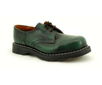 NPS Shoes LTD Premium Ranger Made in England Green Rub Off 3 Eye Steelcap Shoe Big G Sole