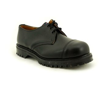 NPS Shoes LTD Premium Ranger Made in England Black 3 Big Loch 2 Stitch Capped Stahlkappe Shoe