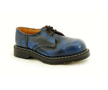 NPS Shoes LTD Premium Ranger Made in England Navy Rub Off 3 Loch Stahlkappe Shoe Big G Sole