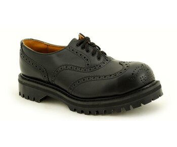 NPS Shoes LTD Premium Ranger Made in England Black 5 Loch Brogue Stahlkappe Shoe