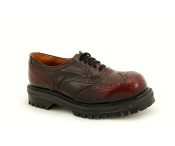 NPS Shoes LTD Premium Ranger Made in England Burgundy Rub Off 5 Loch Brogue Stahlkappe Shoe