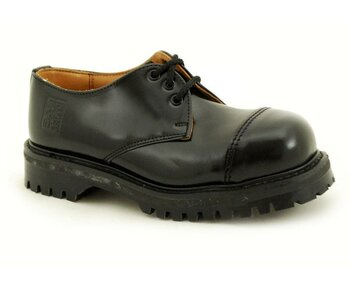 NPS Shoes LTD Premium Ranger Made in England Black 3 Loch 2 Stitch Capped Stahlkappe Shoe