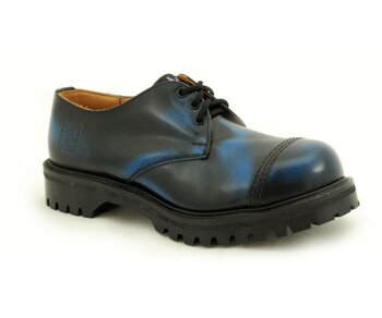 NPS Shoes LTD Premium Ranger Made in England Blue 3 Loch Stahlkappe Shoe