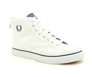 Fred Perry White Basket Boot Canvas  EUR 45 (UK10)