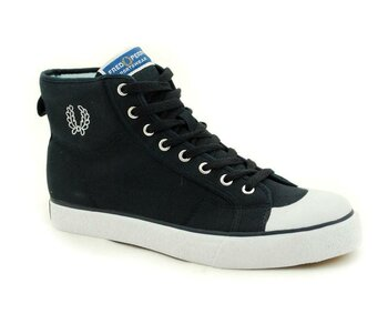 Fred Perry Navy Basket Boot Canvas  EUR 45 (UK10)