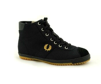 Fred Perry Black Gold Boot Sneaker Canvas Suede EUR 38 (UK5)