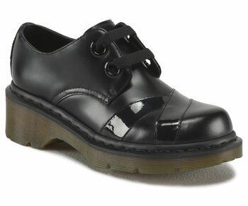 Dr. Martens 2 Loch Sylwia Black Smooth Patent Lamper