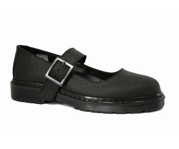 Nevermind  T-Bar Sandal  Black Greasy