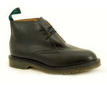 Solovair NPS Shoes Made in England 3 Loch Chukka Black Shoe