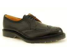 Solovair NPS Shoes Made in England 3 Eye Black Brogue...