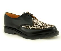 Solovair NPS Shoes Made in England 3 Loch Black/Leo...