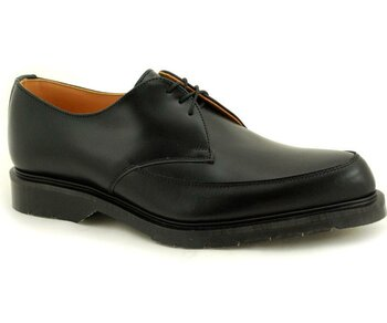 Solovair NPS Shoes Made in England 3 Loch Black Pointed Shoe