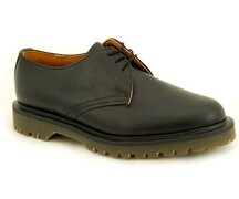 Solovair NPS Shoes Made in England 3 Loch Black Shoe Ben...