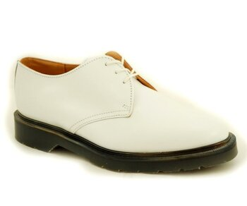 Solovair NPS Shoes Made in England 3 Loch Off White PW Shoe