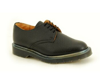 Solovair NPS Shoes Made in England 4 Loch Black Grain Shoe
