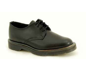 Solovair NPS Shoes Made in England 4 Eye Black Shoe