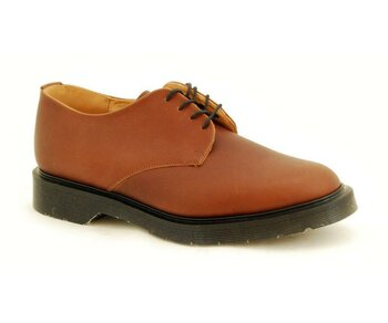 Solovair NPS Shoes Made in England 4 Eye Chilean Tan Shoe