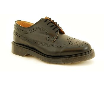 Solovair NPS Shoes Made in England 5 Eye Black American Brogue Shoe