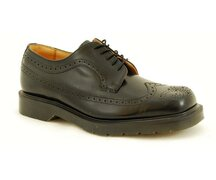 Solovair NPS Shoes Made in England 5 Loch Black American...