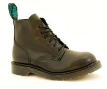 Solovair NPS Shoes Made in England 6 Loch Black Ankle Boot