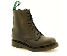 Solovair NPS Shoes Made in England 8 Eye Black Boot