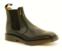 Solovair NPS Shoes Made in England Black Chelsea Square Boot