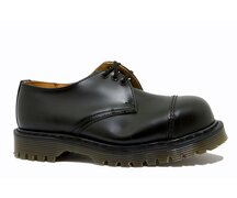 Solovair NPS Shoes Made in England 3 Eye Black Steelcap...