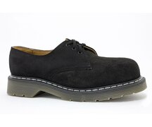 Solovair NPS Shoes Made in England 3 Eye Black Suede...