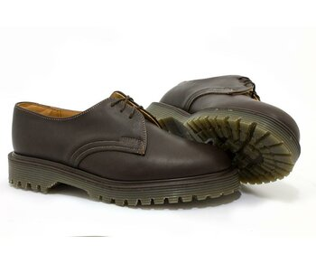 Solovair NPS Shoes Made in England 3 Loch Dark Tan Ben Shoe