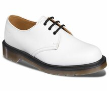 Dr. Martens 3 Loch 1461 PW White Vintage Quilon Made in...