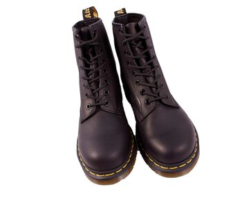 Dr. Martens 8 Loch 1460 Black Greasy 11822003 Eur 47 (UK12)