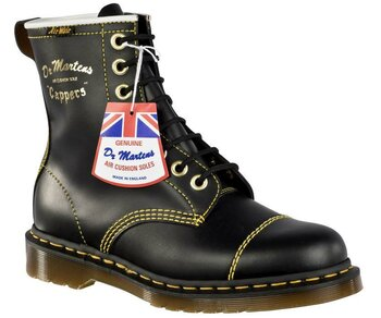 Dr. Martens 8 Loch Cain Black Quilon Made in England 13223001