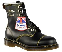 Dr. Martens 8 Loch Cain Black Quilon Made in England...