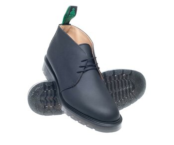 Solovair NPS Shoes Made in England 3 LochChukka Black Greasy Shoe EUR 41,5 (UK7,5)