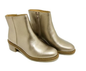Kickers Ankel Boot Oxymora Silber / Argent  Grained Metall