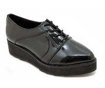 Kopie von T.U.K. Shoe A8914L Black Iridescent Pu Pointed...