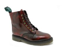 Solovair NPS Shoes Made in England 8 Loch Burgundy Rub...