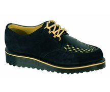 Dr. Martens 3 Eye Creepers Beck Black High Suede WP+Smooth