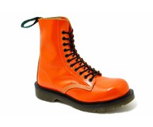 Solovair NPS Shoes Made in England 11 Loch Orange Crackle...