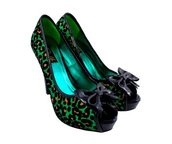 Pin Up Couture Betty Green Leopard 37,5
