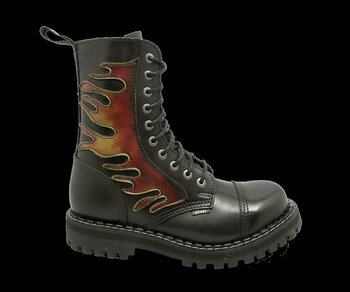 10 Loch Steel Boots Flames Eur 45 (UK10)