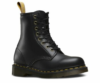 Dr. Martens 8 Loch 1460 Black Vegan Felix Rub-Off Eur 45 (UK10)