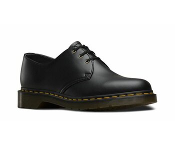 Dr. Martens 3 Loch 1461 Black Vegan Felix Rub-Off Eur 45 (UK10)